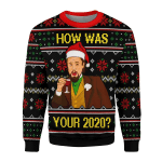 Merry Christmas Gearhomies Unisex Christmas Sweater How Was Your 2020 3D Apparel