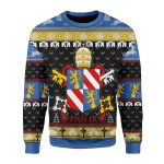Merry Christmas Gearhomies Unisex Christmas Sweater Pope Pius IX Coat Of Arms 3D Apparel