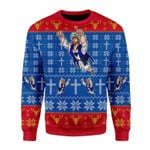 Merry Christmas Gearhomies Unisex Christmas Sweater Super Jesus Christmas 3D Apparel
