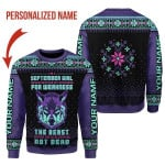 Gearhomies Personalized Name Tops September Girl Never Mistake My Kindness For Weakness 3D Apparel
