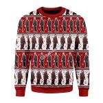 Merry Christmas Gearhomies Unisex Christmas Sweater Robert Pattinson Meme Kitchen 3D Apparel