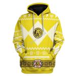 Gearhomies Unisex Hoodie Power Rangers 3D Apparel, Yellow