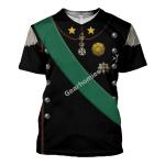 Gearhomies Unisex T-Shirt Victor Emmanuel III King of Italy 3D Apparel