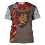 Gearhomies Unisex T-Shirt King Arthur 3D Apparel