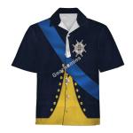 Gearhomies Unisex Hawaiian Shirt Gustav III of Sweden Historical 3D Apparel