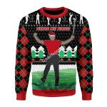 Merry Christmas Gearhomies Unisex Christmas Sweater Here Him Roar 3D Apparel