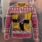 Merry Christmas Gearhomies Unisex Ugly Christmas Sweater Robert Pattinson Kitchen Meme 3D Apparel