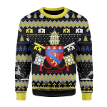Merry Christmas Gearhomies Unisex Christmas Sweater Pope Sixtus V Coat Of Arms