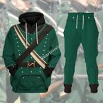 Gearhomies Unisex Tracksuit Hoodies Pullover Sweatshirt 95th Rifles British Army Historical 3D Apparel