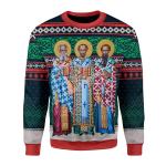 Gearhomies Unisex Sweatshirt Three Great Hierarchs 3D Apparel
