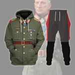 Gearhomies Tracksuit Hoodies Pullover Sweatshirt WWII Fritz Erich Georg Eduard Von Manstein  Historical 3D Apparel