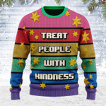 Merry Christmas Gearhomies Unisex Ugly Christmas Sweater Treat People With Kindness 3D Apparel