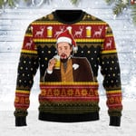 Merry Christmas Gearhomies Unisex Ugly Christmas Sweater Leo Laughing Meme Drinking Bear 3D Apparel
