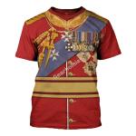 Gearhomies Unisex T-Shirt King George V 3D Apparel