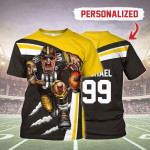 Gearhomies Personalized Unisex T-Shirt Pittsburgh Steelers Football Team 3D Apparel