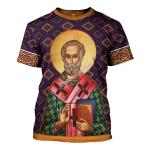 Gearhomies Unisex T-shirt St. Nicholas 3D Apparel