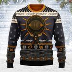 Merry Christmas Gearhomies Unisex Ugly Christmas Sweater The Lord of the Rings Burden 3D Apparel