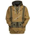 Gearhomies Tracksuit Hoodies Pullover Sweatshirt US Army WW1 Infantryman Historical 3D Apparel