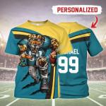 Gearhomies Personalized Unisex T-Shirt Jacksonville Jaguars Football Team 3D Apparel