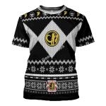 Gearhomies T-shirt Power Rangers, Black