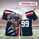 Gearhomies Personalized Unisex T-Shirt Houston Texans Football Team 3D Apparel