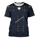 Gearhomies Unisex T-Shirt William Tecumseh Sherman 3D Apparel