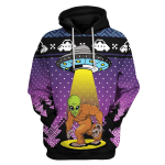 Gearhomies Tops Pullover Sweatshirt Big Foot Alien 3D Apparel