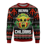Merry Christmas Gearhomies Unisex Christmas Sweater Merry Chilma 3D Apparel