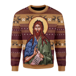 Merry Christmas Gearhomies Unisex Christmas Sweater St. John the Baptist 3D Apparel