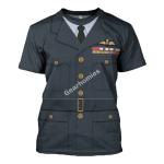 Gearhomies Unisex T-Shirt Group Captain Leonard Horwood WWII Service Dress 3D Apparel