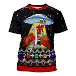 Gearhomies Unisex T-shirt Funny Alien UFO 3D Apparel