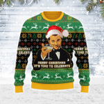 Merry Christmas Gearhomies Unisex Ugly Christmas Sweater Merry Christmas It's Time To Celebrate 3D Apparel
