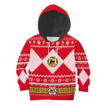 Gearhomies 3D Kid Tops Pullover Sweatshirt Red Power Rangers