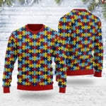 Merry Christmas Gearhomies Unisex Ugly Christmas Sweater Autism 3D Apparel