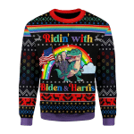 Merry Christmas Gearhomies Unisex Christmas Sweater Biden And Harris LGBT 3D Apparel