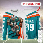 Gearhomies Personalized Unisex Sweatshirt Miami Dolphins Football Team 3D Apparel