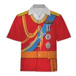Gearhomies Unisex Hawaiian Shirt Prince William Costume Historical 3D Apparel