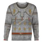 Gearhomies Unisex Sweatshirt Medieval Suit of Armor 3D Apparel