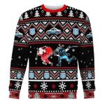 Merry Christmas Gearhomies Unisex Christmas Sweater Santa Claus Riot Police