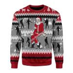 Merry Christmas Gearhomies Unisex Christmas Sweater Dancing Michael Jackson Poses 3D Apparel