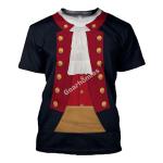 Gearhomies Unisex T-Shirt John Paul Jones Revolutionary War 3D Apparel