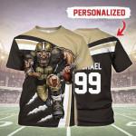 Gearhomies Personalized Unisex T-Shirt New Orleans Saints Football Team 3D Apparel