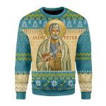Merry Christmas Gearhomies Unisex Christmas Sweater Saint Peter Ugly Christmas
