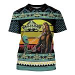 Gearhomies Unisex T-shirt Holographic Alien & Sasquatch But Stuff 3D Apparel