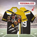 Gearhomies Personalized Unisex Hawaiian Shirt Pittsburgh Steelers Football Team 3D Apparel
