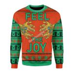 Merry Christmas Gearhomies Unisex Christmas Sweater Thanos Feel The Joy 3D Apparel