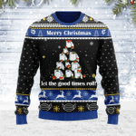 Merry Christmas Gearhomies Unisex Ugly Christmas Sweater Let The Good Times Roll 3D Apparel