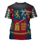 Gearhomies Unisex T-Shirt John of Gaunt 3D Apparel