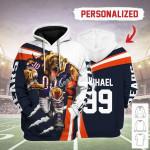 Gearhomies Personalized Unisex Tracksuit Hoodies Chicago Bears Football Team 3D Apparel