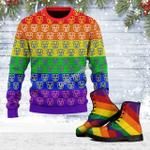 Merry Christmas Gearhomies Unisex Ugly Christmas Sweater Jeffree Star Pig 3D Apparel